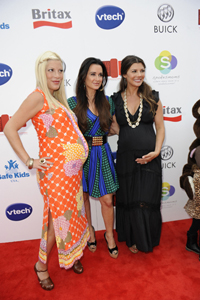 Ali Landry, Tori Spelling and Kyle Richards at Red CARpet Safety event 2011