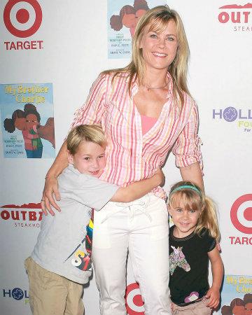 Alison Sweeney and kids