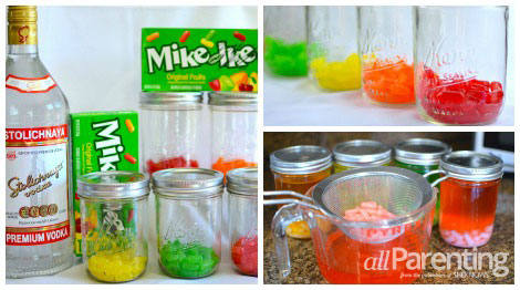 Mike and Ike infused vodka