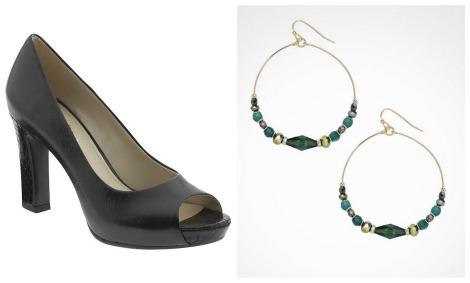MOwry heels and earrings