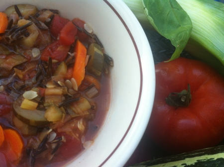French Wild Rice Vegetable soup