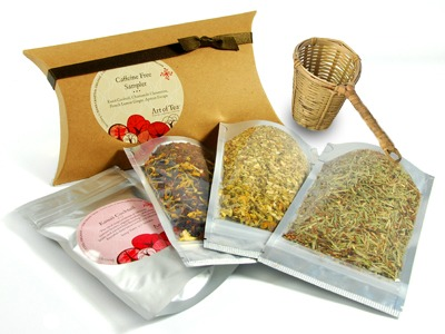 decaffeinated tea samples