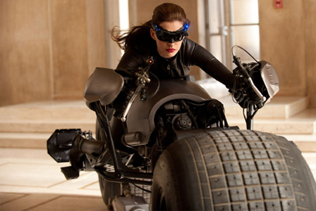 Anne Hathaway in Catwoman suit