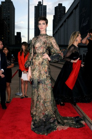 Anne Hathaway at NYC Ballet function