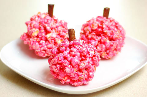 Apple shaped popcorn balls recipe