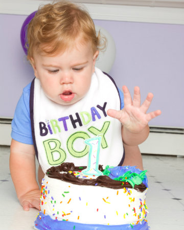 Boy's first birthday