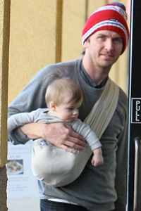 Christopher Jarecki and son Bear Blue.