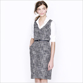 Black and white Sleeveless shift dress
