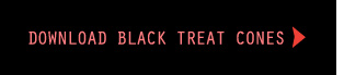 Download the printable black Halloween treat cones