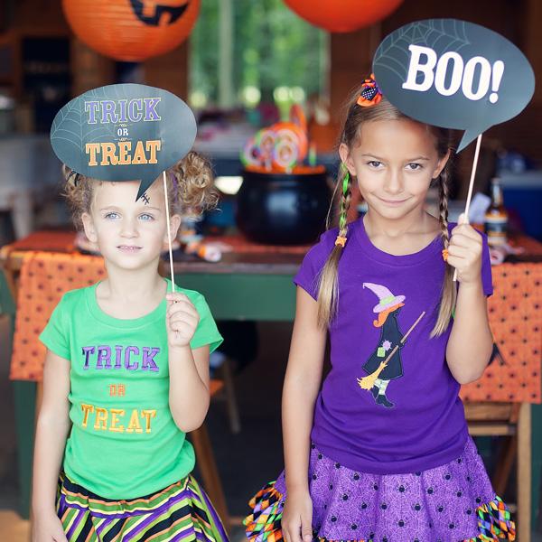 Halloween party -- photo op