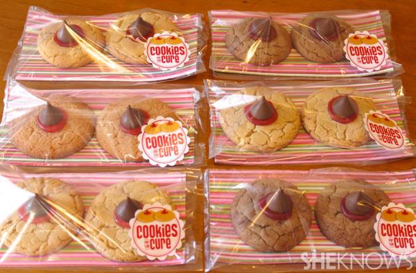 Boob cookies in packaging