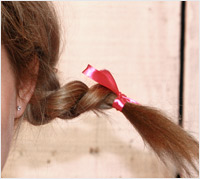 Pippi Longstocking hair tutorial - braids