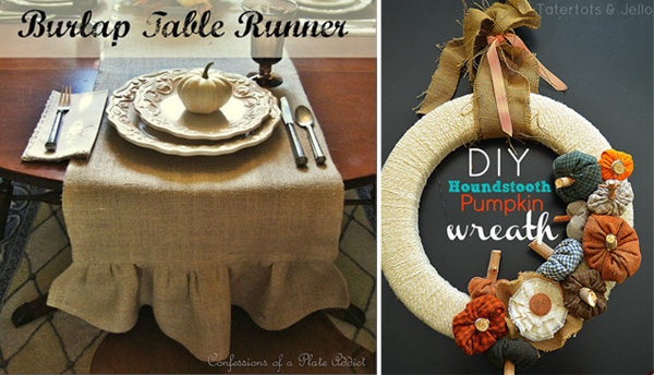 Table runner and wreath