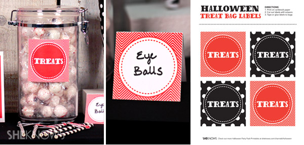 Download the printable Halloween jar labels