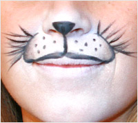 Halloween animal makeup tutorial - animal whiskers