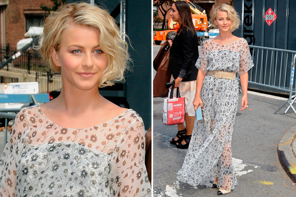Julianne Hough at NYFW 2012