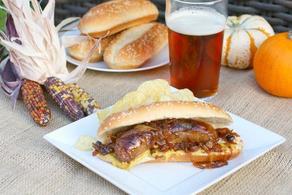 Beer-braised brats