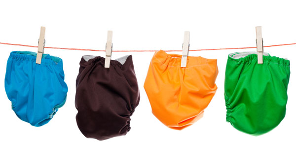 Cloth diapers on the line