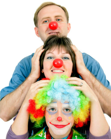 Clown family on Halloween