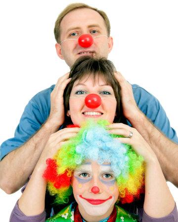 Clown family on Halloween