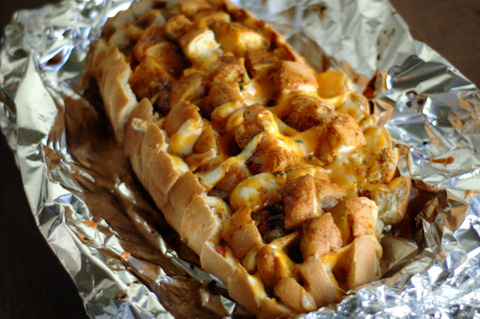 barbeque bacon ranch pull apart bread