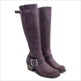 Purple riding boots