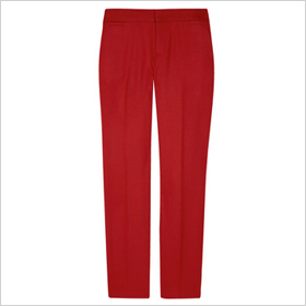 Deep red twill pants