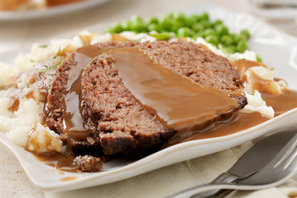 Mashed potato and meat loaf