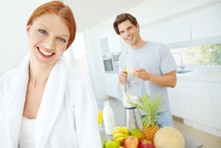 Healthy young couple