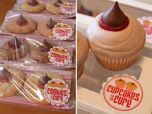 Boob cookies and cupcakes
