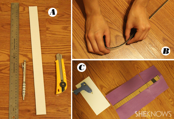 Creating the straps to your backpack for your Dora the Explorer Halloween costume