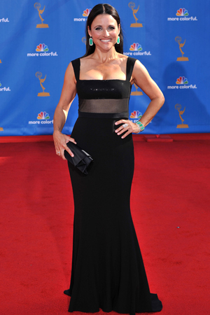 Julia Louis-Dreyfus at the 2010 Emmys
