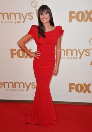 Lea Michele at the 011 Emmy Awards