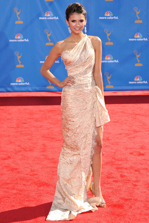 Nina Dobrev at the 2010 Emmy Awards