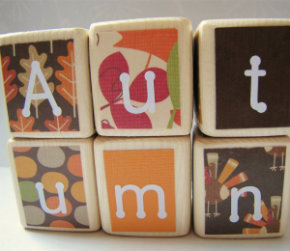 Fall wood blocks