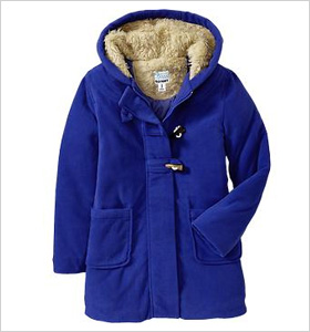 Old Navy Hooded Performance Fleece Toggle Coat