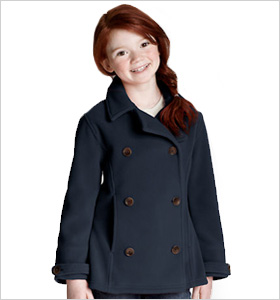Lands' End Thermacheck 200 Fleece Pea Coat