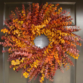 Fall hanging wreath