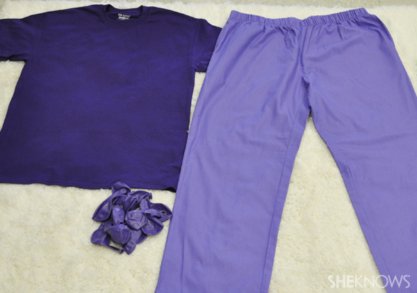 Assemble your pants and shirt for your Fruit of the Loom Halloween costume