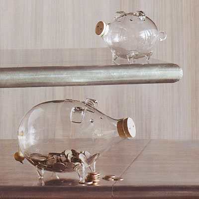 glass piggy banks