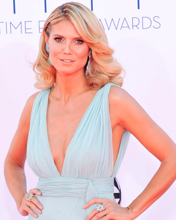 Heidi Klum at 2012 Emmy Awards