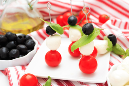 Italian appetizer skewers