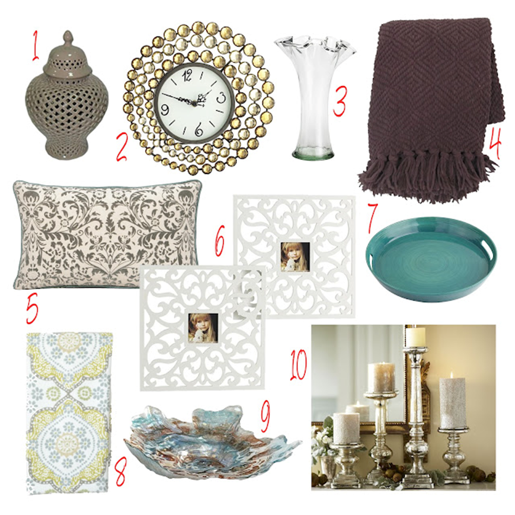10 luxurious home accessories under 50 for Home decor accents