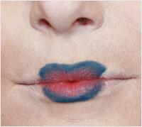 Halloween Hunger Games makeup tutorial - heart designed lips