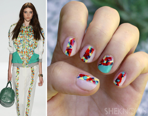 Fashion Week: Rebecca Minkoff-inspired floral nails