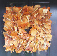 Natural square wreath