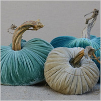 Velvet plush pumpkins
