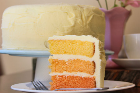 Step-by-step ombre cake