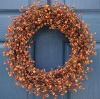 Orange berry wreath