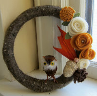 Owl mini wreath